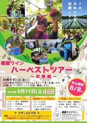 都農ワインのハーベストツアー2018 ~収穫編~